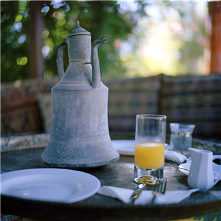 Turkish meal with orange juice photo by Roy Mehta
